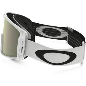 Oakley Line Miner Gafas de Nieve Hombre, matte white/w prizm hi pink iridium